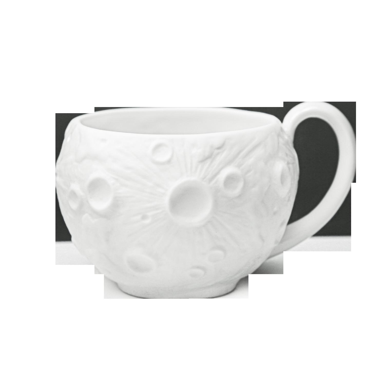 """Чашка фарфоровая Rupor """"Луна Классика"""" белая"""