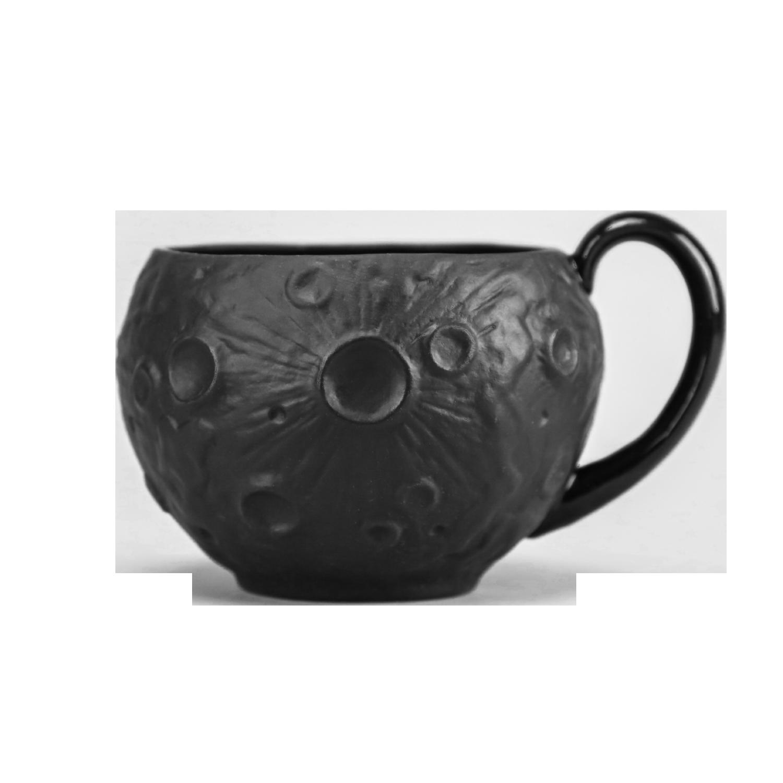 """Чашка фарфоровая Rupor """"Луна Классика"""" черная"""