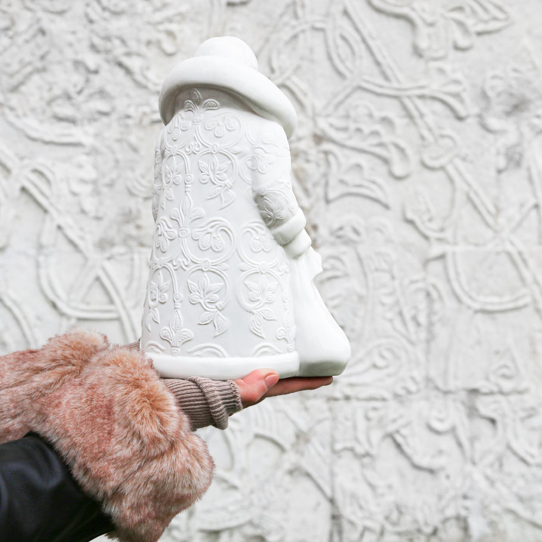 """Скульптура фарфоровая Rupor """"Дед Мороз"""" большой (Розы)"""