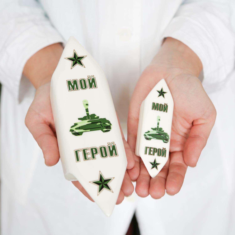 """Ёлочное украшение фарфоровое Rupor """"Конфета"""" (Мой герой)"""