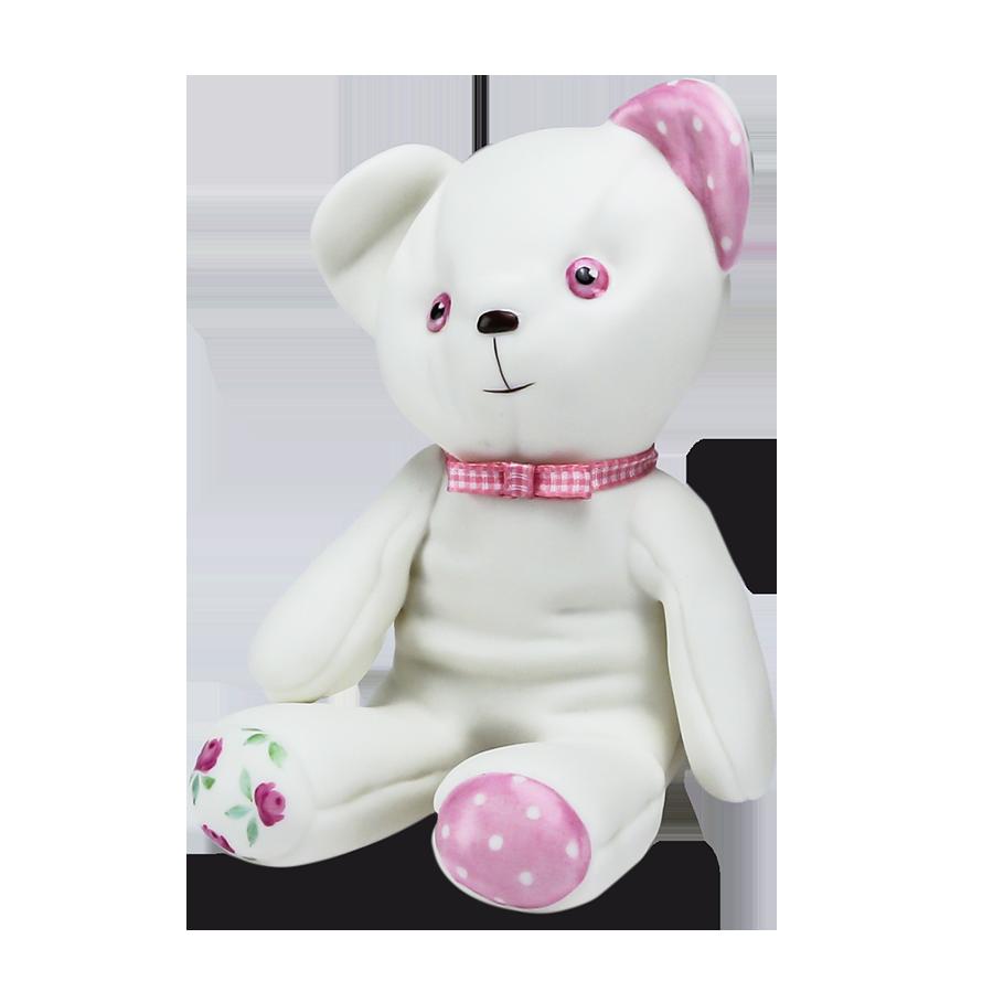 """Скульптура фарфоровая Rupor """"Медвежонок 1976 год"""" роспись, розовый"""