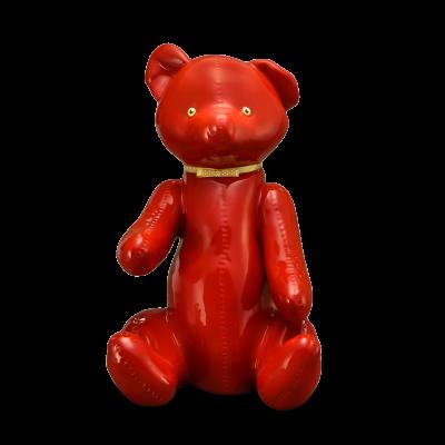 """Скульптура фарфоровая Rupor """"Медведь 1959 год"""" красный, медовые глаза"""