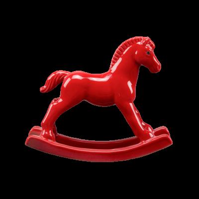 Лошадка-качалка красная