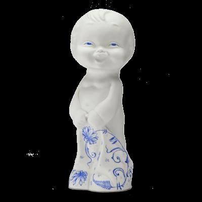 """Скульптура фарфоровая Rupor """"Пупс Стёпа 1971 год"""" роспись, голубой"""