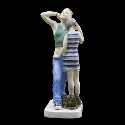 """Скульптура фарфоровая Rupor """"Телефонный разговор"""""""